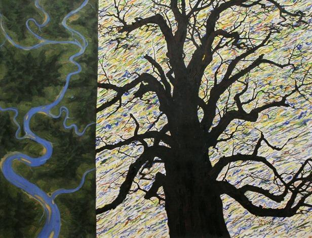 임옥상,주암리은행나무(1500년의 바람)