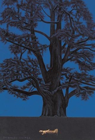 이종구,주암리은행나무(부여-잠자는 부처)